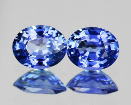 5x4 mm Oval 2 pcs 1.06cts Blue Sapphire [VVS]