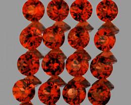 3.50 mm Round 16 pcs Orange Red Garnet [VVS]