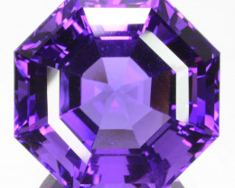 20.60 Cts Natural Purple Amethyst Round Custom Cut Bolivia Gem