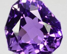 18.81 Cts Natural Purple Amethyst Heart Custom Cut Bolivia Gem