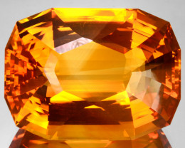 96.95 Cts Unheated Natural Golden Orange Citrine Cushion Cut Brazil
