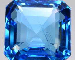 39.21 Cts Natural Swiss Blue Topaz Octagon Collection Gem Brazil