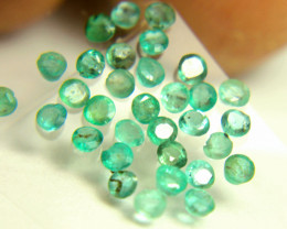 1.63 Tcw. Emerald Accent Gems - 2.3mm - 30pcs.