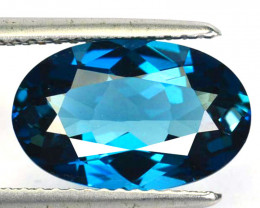 ~DAZZLING~ 3.92 Cts Natural Baby Blue Topaz Pretty Oval Cut Brazil