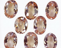 15.52Ct Natural  Peach Pink Morganite Oval Parcel Brazil