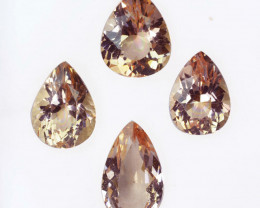 8.24Ct Natural  Peach Pink Morganite Pear Parcel Brazil