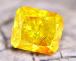 Yellow Diamond 0.22Ct Natural Fancy Diamond A2502