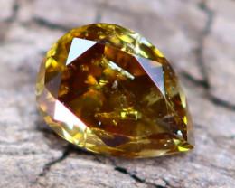Champagne Diamond 0.14Ct Natural Fancy Diamond A2509