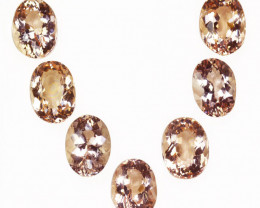 14.14Ct Natural  Peach Pink Morganite Oval Parcel Brazil