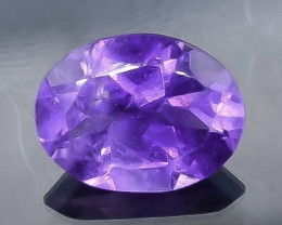 1.44 Crt Natural Amethyst Faceted Gemstone.( AB 81)