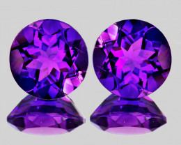 10.00 mm Round 2 pcs 6.01cts Purple Amethyst [VVS}