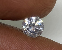 (1) Certified Nat $1037 Fiery 0.62cts SI2 White Round Loose Diamond