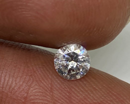 (2) Certified Nat $780 Fiery 0.43cts VS2 White Round Loose Diamond
