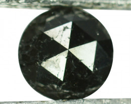 0.82 Cts Natural Coal Black Diamond Round (Rose Cut) Africa