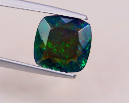 1.71ct Natural Ethiopian Welo Solid Smoked Faceted Cushion Lot A810
