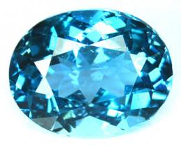 ~DAZZLING~ 4.20 Cts Natural London Blue Topaz Oval Cut Brazil