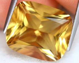 Citrine 8.54Ct VVS Octogon Cut Natural Golden Yellow Citrine B2604