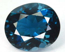 ~GORGEOUS~ 2.14 Cts Natural London Blue Topaz Oval Cut Brazil