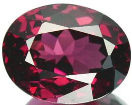 2.82 Cts Natural Purplish Pink Rhodolite Garnet Oval Cut Mozambique