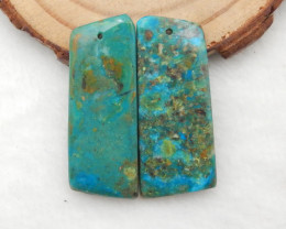 29cts blue opal Earrings Square earrings beads, stone for earrings making G