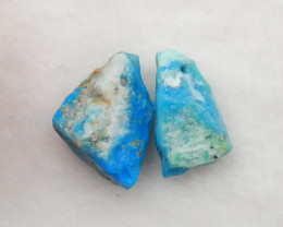 2pcs 10cts blue opal  beads, stone for earrings making G765