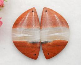 93.5cts Red River Jasper  Earring Beads, stone for earrings making G746