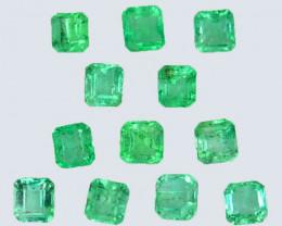 2.35 Cts Natural Vivid Green Emerald 12Pcs Octagon Cut Colombia