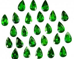 4.92 Cts Natural Vivid Green Tsavorite Garnet 5x3mm Pear Cut 25Pcs Kenya