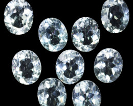 36.40 Cts Natural Untreated White Topaz 11x9mm Oval Cut 9Pcs Brazil