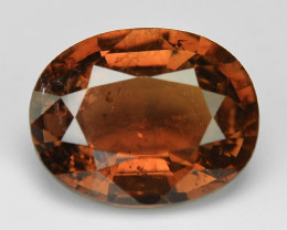 2.39 Cts Un Heated Orange Color Natural Tourmaline Loose Gemstone