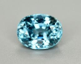 Vibrant Blue ~3.45 Ct Natural Zircon From Cambodia