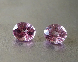 1.59ct natural pink spinel pair