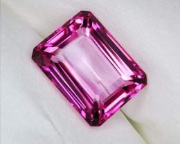 Cert. Natural Pink Topaz top luster HQ.
