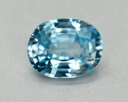 Vibrant Blue ~2.30 Ct Natural Zircon From Cambodia