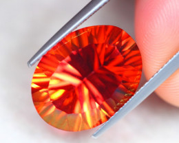10.68ct Natural Vivid Orange Red Topaz Oval Cut Lot S148