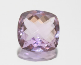 Amethyst Faceted Square 14.5mm.-(9.4ct).-(SKU 256)