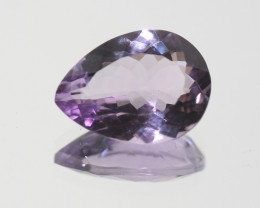 Amethyst Faceted Drop 16.5x12.3mm.-(7.6ct).-(SKU 258)