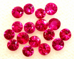0.88 CTS NATURAL RUBY FACETED STONE PARCEL PG-3389