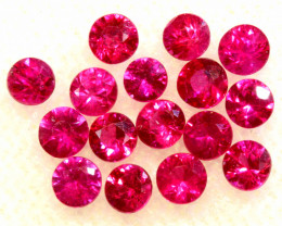 0.93 CTS NATURAL RUBY FACETED STONE PARCEL PG-3390