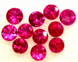 0.70 CTS NATURAL RUBY FACETED STONE PARCEL PG-3391