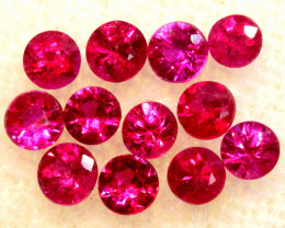 0.75 CTS NATURAL RUBY FACETED STONE PARCEL PG-3393