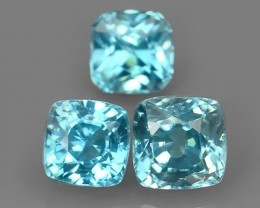 3.80 CtS AWESOME SPARKLE NATURAL BLUE ZIRCON CUSHION~EXCELLENT!!