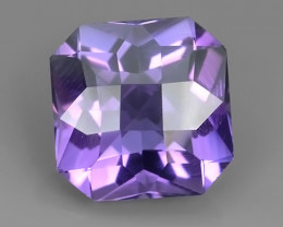 8.55 CTS INCREDIBLE PURPLE AMETHYST URUGUAY FANCY CUSHION CUT EXCELLENT!!