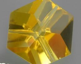 5.45 Cts Huge Fine Clean Fancy Cut Golden Yellow Citrine Excellent!!