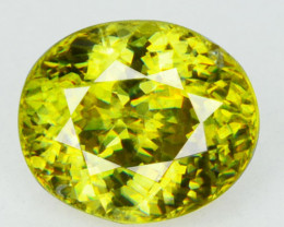 1.88 Cts Natural Olive Yellow Sphene Oval Cut Russia