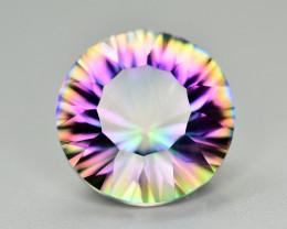 Lovely 10.75 Carat Rainbow Mystic Quartz