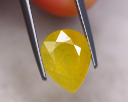 4.98ct Yellow Sapphire Pear Cut Lot P347