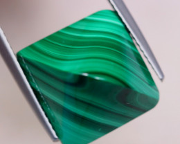 14.11ct Natural Green Malachite Cabochon Lot GW7444