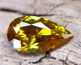Greenish Orange Diamond 0.23Ct Natural Fancy Diamond B2706