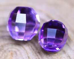 Amethyst 5.78Ct VVS Briolette Cut Natural Bolivian Purple Amethyst B2707